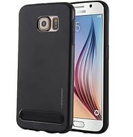 Чехол Motomo Schock Proof Metal+TPU для Samsung Galaxy S6 G920F/G920D Dual Black, фото 1