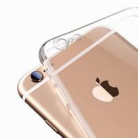 """Чехол силиконовый Ультратонкий Epik с защитой камеры для iPhone 6/6s Plus (5.5"""") Прозрачный"""