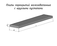 Плита Перекрытия ПК30-12-8