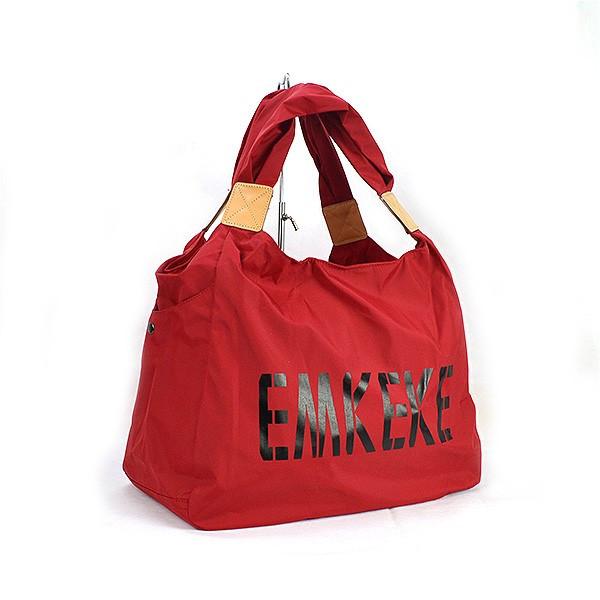 Сумка дорожная, спортивная, пляжная текстильная женская красная Emkeke 915