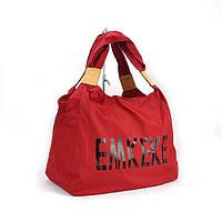 Сумка дорожная, спортивная, пляжная текстильная женская красная Emkeke 915, фото 1