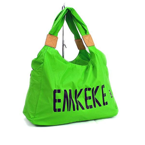 Сумка дорожная, спортивная, пляжная текстильная женская зеленая Emkeke 915