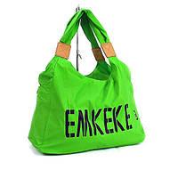 Сумка дорожная, спортивная, пляжная текстильная женская зеленая Emkeke 915, фото 1