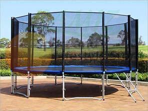 Батуты для детей 488 см. с защитной сеткой и лесенкой, фото 2