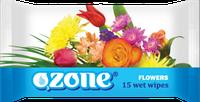 Влажные салфетки Ozone N Цветочная свежесть, 15 шт