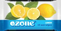 Влажные салфетки Ozone N Лимон, 15 шт