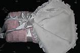 Конверт детский зимний на выписку розовый, фото 3