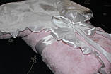 Конверт детский зимний на выписку розовый, фото 5