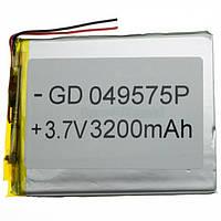 Аккумулятор литий-полимерный 049575P 3.7V 3200mAh