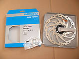 Гальмівний ротор Shimano SM-RT68-L Center Lock 203 мм Ice-Tech, фото 2