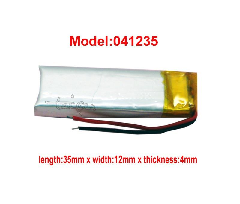 Аккумулятор литий-полимерный 043512P(403512) 3.7V 200mAh