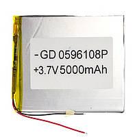 Аккумулятор литий-полимерный 0596108P 3.7V 5000mAh