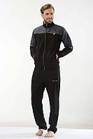Трикотажный мужской спортивный костюм пр-во Турция FM16203 Black