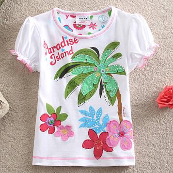 """Детская летняя футболка для девочки """"Парадиз"""""""