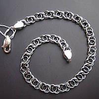 Серебряный браслет, 190мм, 9 грамм, плетение Арабский бисмарк