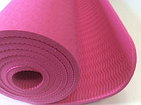 Йогамат 6мм розовый (каучук), фото 1