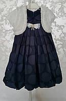 Нарядное платье с болеро для девочек 92,98,104,110,116 роста Лилия