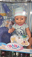 Пупсик baby born в одежке с аксессуарами