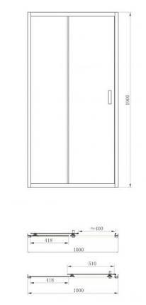 Душевая дверь Primera FRAME SDP1010 100x190, фото 2