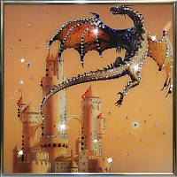 Яркая картина из страз Сокровища дракона
