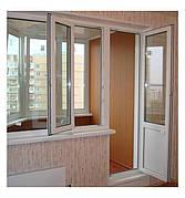 Окна  КВЕ профильная система 58мм 1300*1400 склопакет 32мм