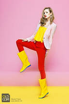 Сапоги резиновые OLDCOM женские Vivid желтые UA, фото 3