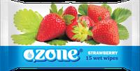 Влажные салфетки Ozone N Клубника, 15 шт
