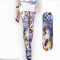 Модные женские леггинсы Граффити