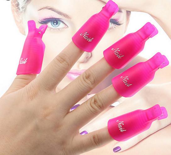 Зажимы-прищепки для снятия гель-лака с ногтей