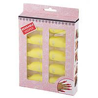 Зажимы для снятия гель-лака с ногтей желтые