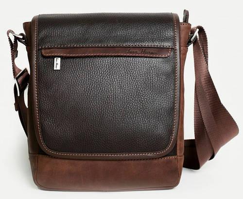 Мужская сумка месенджер в стиле Сasual из натуральной кожи ISSA HARA BM5-05 (12-32)