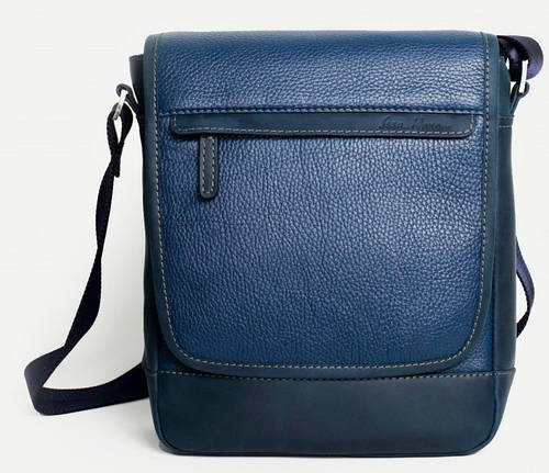Выразительная мужская сумка месенджер в стиле Сasual, кожаная ISSA HARA BM5-05 (13-33)