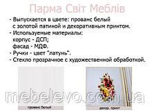 Гостиная Парма комплект №3 2072х3456х540мм прованс белый Світ Меблів, фото 3
