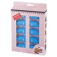 Зажимы для снятия гель-лака с ногтей синие