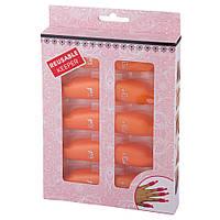Зажимы для снятия гель-лака с ногтей оранжевые