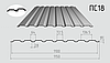 Профнастил стеновой ПC-18 1150/1100 с цинковым покрытием 0,50мм