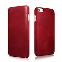 Чехол для iPhone 6 / 6S Plus - Icarer Vintage Series Curved Edge, красный