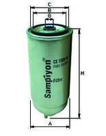 Фильтр топливный CS1589M, 1902138 для IVECO,Audi, Fiat, Opel