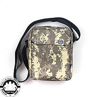 Сумка на плечо: White Sand Messenger Bag Цвет Pixel