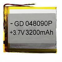 Аккумулятор литий-полимерный 048090P 3.7V 3200mAh