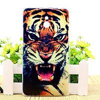 Силиконовый чехол бампер для Nokia Lumia 1320 с рисунком Тигр