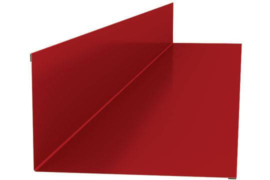 Планка примыкания 140Х70 для кровли RAL 3005, вишня, фото 2