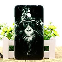 Силиконовый чехол бампер для Nokia Lumia 1320 с рисунком Обезъяна