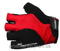 Велоперчатки PowerPlay 5028 красный, м