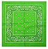 Яркая зеленая бандана в классическом стиле