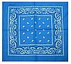 Бандана классика огурцы синего цвета