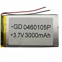 Аккумулятор литий-полимерный 0460105P 3.7V 3000mAh