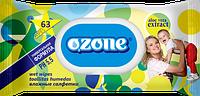 Влажные салфетки Ozone N детские Алоэ с клапаном, 63 шт