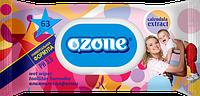 Влажные салфетки Ozone N детские Календула и витамин Е с клапаном, 63 шт