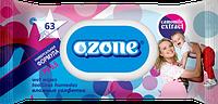 Влажные салфетки Ozone N детские Ромашка с клапаном, 63 шт